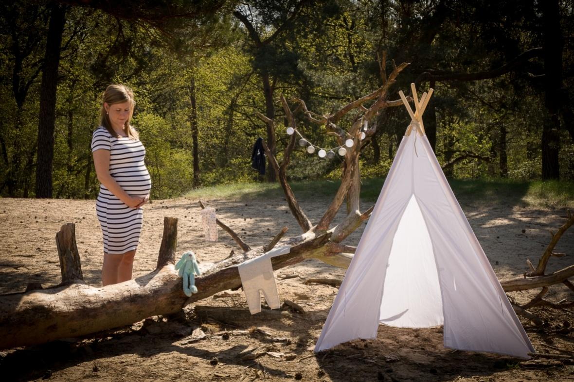 Zwangerschapshoot op locatie